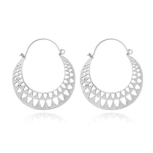 Stella Hoop Earrings - Silver