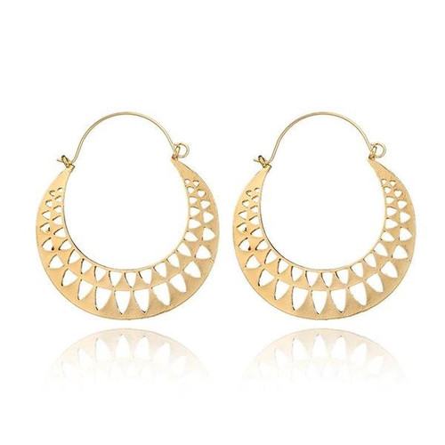 Stella Hoop Earrings - Gold