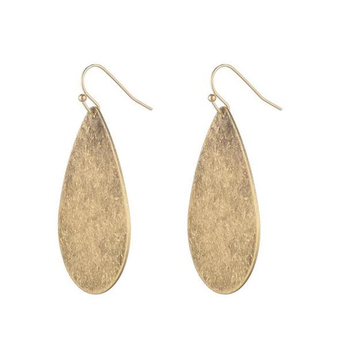 Jenny Brushed Metal Earrings - Gold