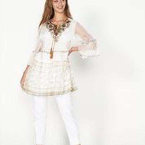 Beaded Tunic - White