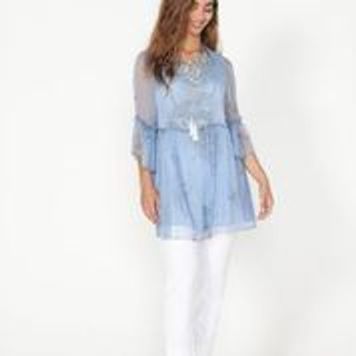 Beaded Tunic - Blue