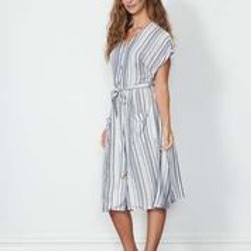 Centre Button Dress With Pockets