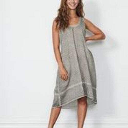Jacquard Dress With Hem Panel
