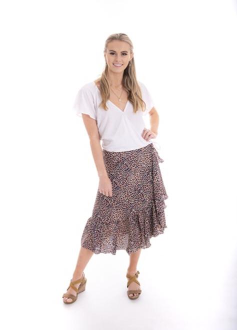 Leopard Wrap Skirt - Free Size