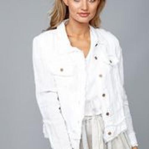 Monza Jacket - White Linen