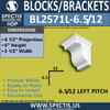 "BL2571L-6.5/12 Pitch Eave Bracket 5.5""W x 6""H x 6.5"" P"