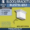 """BL2573L-6/12 Pitch Eave Bracket 3.5""""W x 4""""H x 6"""" P"""