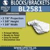 "BL2581 Eave Block or Bracket 1.37""W x 1.37""H x 3"" P"