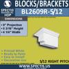 "BL2609R-5/12 Pitch Block or Bracket 4""W x 5""H x 9"" P"
