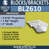"BL2610 Eave Block or Bracket 3""W x 1""H x 3"" P"