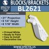 "BL2621 Eave Block or Bracket 5.125""W x 6""H x 21"" P"