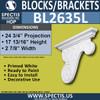"""BL2635L Left Block or Bracket 3.25""""W x 17.75""""H x 24.75"""" P"""