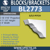 "BL2773 Eave Block or Bracket 3""W x 11.25""H x 18"" P"