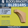 "BL2814RS Rough Sawn Bracket 4""W x 12""H x 18"" P"
