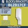 """BL2817CF Concrete Finish Bracket 12""""W x 39""""H x 12"""" P"""