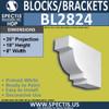 "BL2824 Eave Block or Bracket 8""W x 18""H x 26"" P"