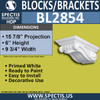"BL2854 Eave Block or Bracket 9.75""W x 6""H x 15.9"" P"