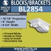 "BL2854 Eave Block or Bracket 9.75""W x 6""H x 15.9"" P"