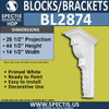 "BL2874 Eave Block or Bracket 14.5""W x 44.5""H x 23.5"" P"