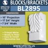 "BL2895 Eave Block or Bracket 7.6""W x 9.75""H x 17.75"" P"