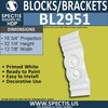 "BL2951 Eave Block or Bracket 13""W x 32""H x 16.75"" P"