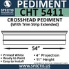 "CHT5411 Crosshead with Trim Strip Extended 54"" W x 11""H"