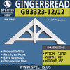 "GB3323-12-12 Gingerbread Gable Trim 70""W x 35""H"