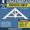 "GB3323-18-12 Gingerbread Gable Trim 60""W X 45""H"