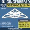 "GB3326-12/12-74 Gingerbread Gable Trim 74 1/8""W X 38 7/16""H"