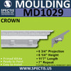 "MD1029 Spectis Decorative Crown Molding 6 3/4""P x 6 1/4""H x 139""L"