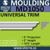 """MD1050 Spectis Crown Molding Trim 2""""P x 2""""H x 144""""L"""