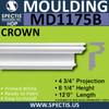 "MD1175B Spectis Molding Head Trim 4 3/4""P x 8 1/4""H x 144""L"