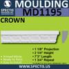 """MD1195 Spectis Molding Rail Trim 1 1/8""""P x 2 1/4""""H x 7' 3""""L"""