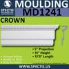 """MD1241 Spectis Molding Head Trim 5""""P x 16""""H x 144""""L"""