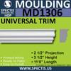 "MD1306 Spectis Brick Molding Trim 2 1/2""P x 3 1/2""H x 140""L"
