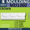 "MD1360 Spectis Molding Flat Trim 1 1/2""P x 8 3/4""H x 11' 1""L"