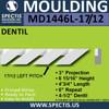 "MD1446L-17/12 Pitch Dentil Trim Left 3""P x 6 15/16""H x 48""L"