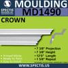 """MD1490 Spectis Crown Molding Trim 7 3/8""""P x 7 3/8""""H x 144""""L"""