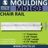 """MD1603 Spectis Molding Plant On Trim 1""""P x 3 1/8""""H x 144 3/8""""L"""