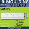 """MD1670 Spectis Molding Case Trim 13/16""""P x 3 1/2""""H x 144""""L"""