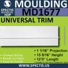 """MD1677 Spectis Molding Base Trim 1 1/16""""P x 13 5/16""""H x 84""""L"""