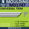 """MD1747 Spectis Crown Molding Trim 1 7/8""""P x 2 1/4""""H x 144""""L"""