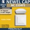 """NC2334FS Fossil Stone Newel Cap 9"""" W x 4.2"""" H"""