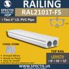 """RAL2101T-FS Fossil Stone 9 1/4""""W Top Railing 8'-10'-12'"""