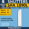 SHA1890L Arch Top Polyurethane Shutter 18 x 90 LEFT