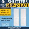SHP-2 1371 Polyurethane Shutters - 2 Raised Panels 13 x 71
