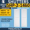 SHP-2 1460 Polyurethane Shutters - 2 Raised Panels 14 x 60