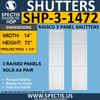 SHP-3 1472 Polyurethane Exterior Shutters - 3 Raised Panels 14 x 72