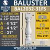 "BAL2032-31FS Fossil Stone Baluster 5 7/8""W X 31""H"