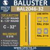 "BAL2046-32 Spectis Urethane Round Baluster 1 1/4"" x 32"""